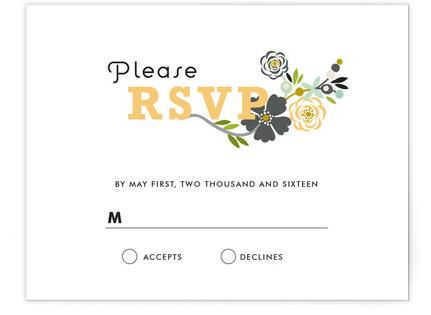 Floral Frame RSVP Cards