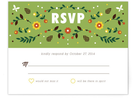 Woodland RSVP Cards