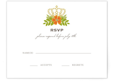 Royal Monogram RSVP Cards