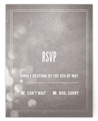 Bokeh Bride RSVP Cards