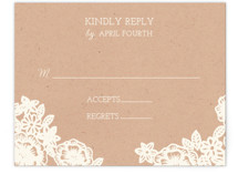 Lace and Kraft RSVP Cards