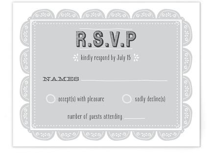 Eyelet RSVP Cards
