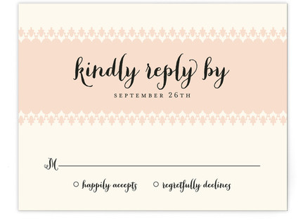 Chic Romantique RSVP Cards