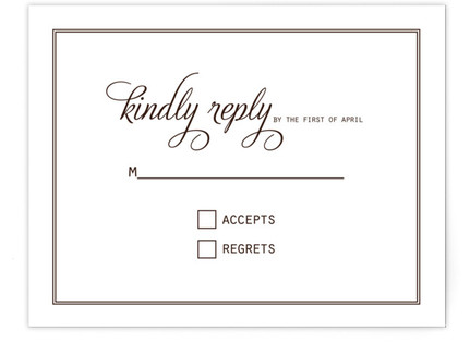 Chocolate Matrimony RSVP Cards
