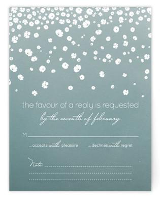 Floral Rain RSVP Cards
