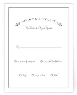 Wedding Boughs RSVP Cards
