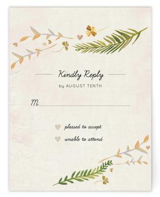 Leaf Specimen RSVP Cards