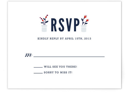 Flower Vases RSVP Cards