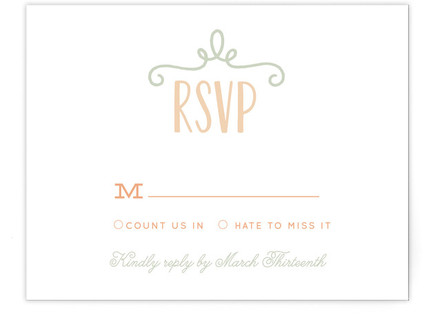 Our Big Wedding RSVP Cards