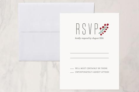 Bold Florals RSVP Cards