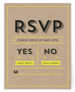 Poster Type RSVP Cards