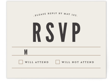 Classic Type RSVP Cards