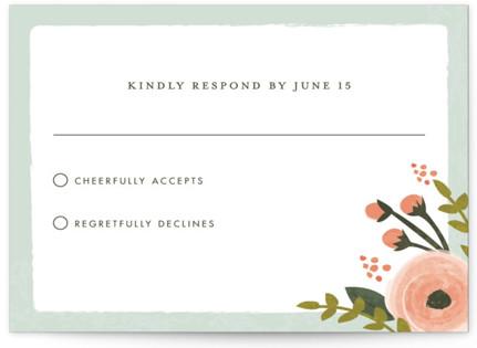 English Floral Garden RSVP Cards