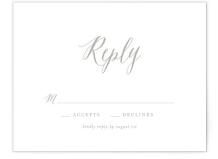 Monogram Floral RSVP Cards