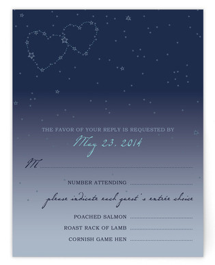 Star Map RSVP Cards