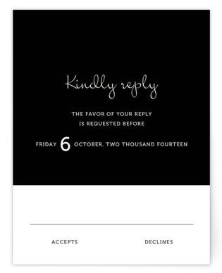 Wedding Type RSVP Cards