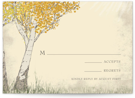Fall Tranquility RSVP Cards