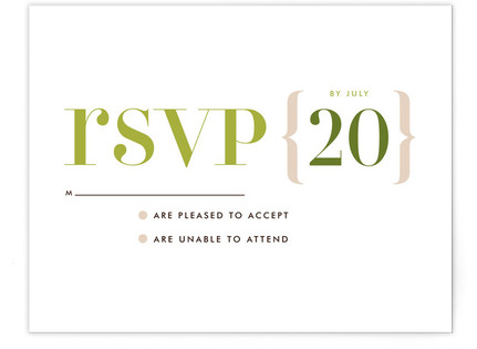 Love Lettered RSVP Cards