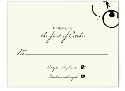 Classic Inkwell RSVP Cards