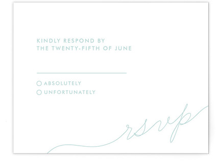 Calligraphy RSVP Cards