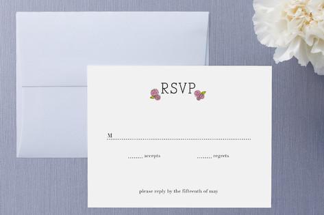 Parisian Blooms RSVP Cards