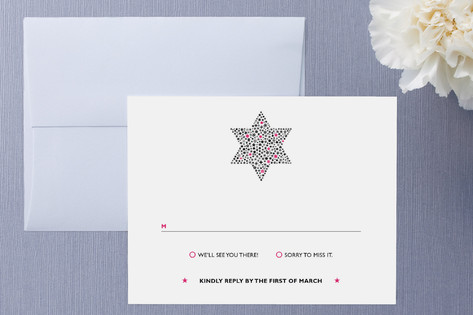 Mitzvah Star RSVP Cards