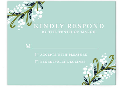 Midnight Floral RSVP Cards