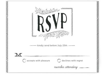 Bistro Board RSVP Cards
