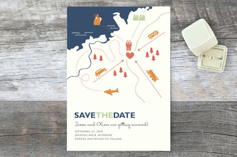 Two Grooms Destination Save the Date Cards