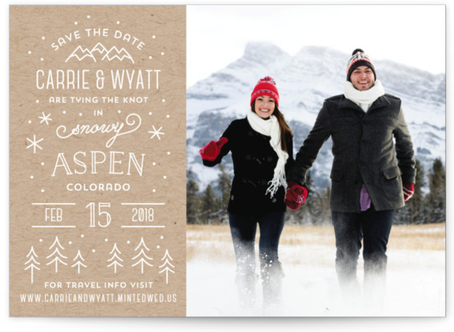 Somewhere Snowy Save the Dates