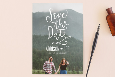 Skywriting Love Save the Date Cards