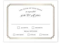 Luxe Border Foil-Pressed RSVP Cards