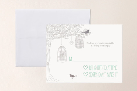 Love Let Loose Foil-Pressed RSVP Cards