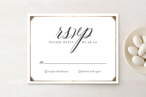 Fanciful Names Foil-Pressed RSVP Cards
