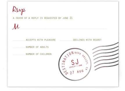 A Faraway Destination Foil-Pressed RSVP Cards