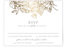 Gilded Wildflowers Foil-Pressed RSVP Cards