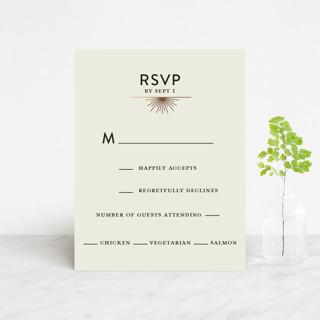 mandala Foil-Pressed RSVP Cards