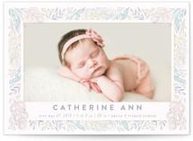Secret Garden Birth Announcements