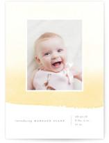 Delicate Ombre Birth Announcements