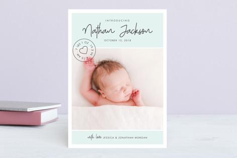 Love Stamp Birth Announcements