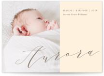 Bold Elegance Birth Announcements