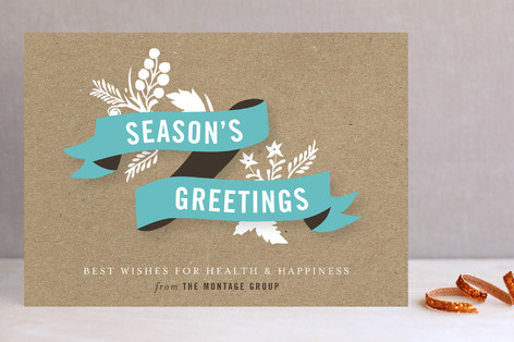 Festive Banner Holiday Photo Cards