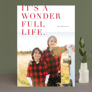 Lush Wonder Holiday Photo Cards