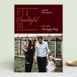 Wonderful Christmas Holiday Photo Cards