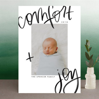 Comfort Joy Holiday Photo Cards