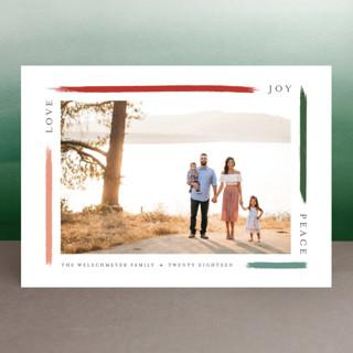 holiday brushed Holiday Photo Cards