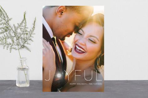 Joyful & Glowing Holiday Photo Cards
