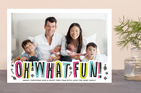 Color Pop Holiday Photo Cards