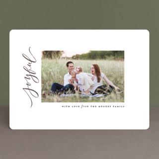 Minimal Merry Holiday Photo Cards