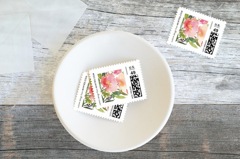 Watercolor Floral Baby and Kids Stamps